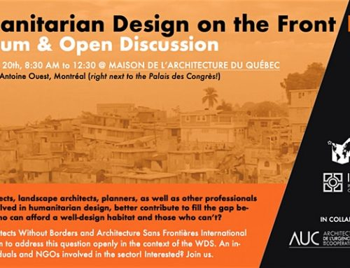 Humanitarian Design on the Front Line: A Forum & Open Discussion