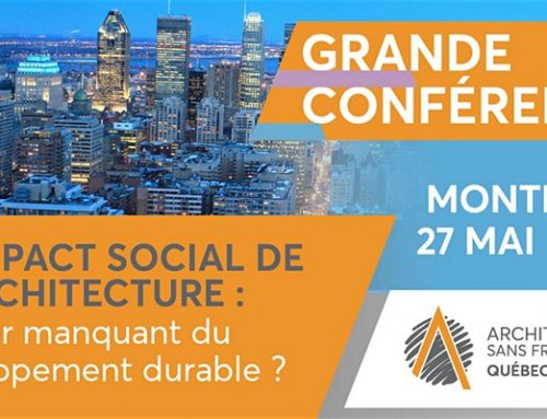Grande Conférence 2019 : L'impact social de l'architecture – Montréal