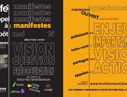 Dernier appel à contributions des Forums canadiens d'architecture sur l'éducation (CAFÉ)
