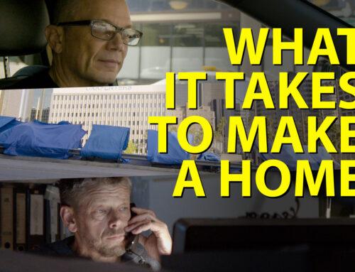 """26 novembre 2:00 pm / 27 novembre 1:30 pm Projections de """"What It Takes to Make a Home"""" et débats sur l'architecture et l'itinérance"""
