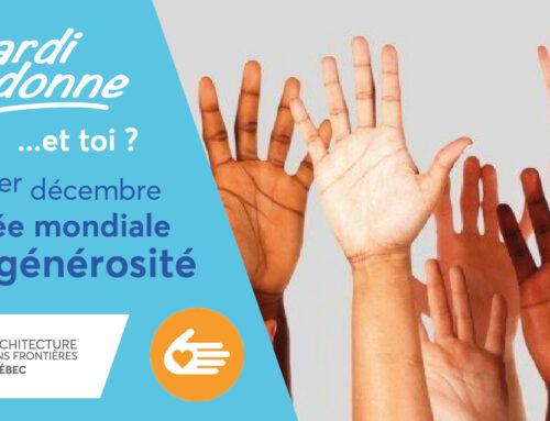 DONNEZ : Journée mondiale de la générosité, ASFQ a besoin de vous !
